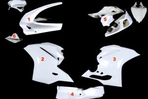 Komplettsatz 5-teilig racing OP - Ducati 1299, 959 Panigale 2015-2018 - GFK