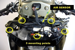 Preview - holder of OEM airduct on bike