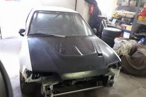 Racing Přední kapota - zvýšená na Honda civic cg4 1988-1991 -  GFK - sklolaminát, probarvený GFK, Performance