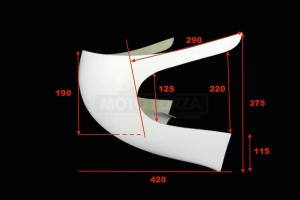 UNI Half fairing 50-350cc - dimensions