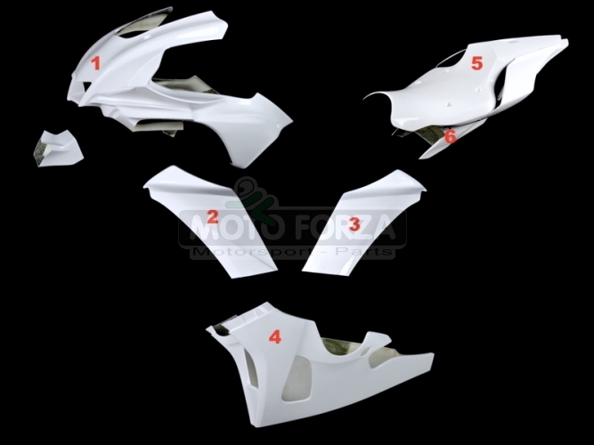 Yamaha YZF R1 2015-2019 Kompletní sada 6-dílná Racing - Konverze KIT 2020 , GFK sklolaminát